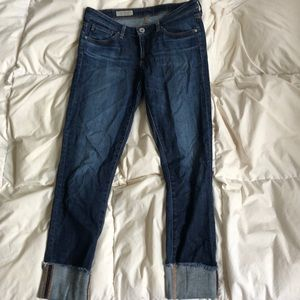 AG Stevie Slim Straight Cuffed Jeans size 26